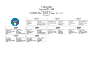Calendario Esordienti Pura 2010 Girone C_page-0001